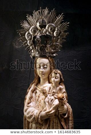 女性 信仰 大聖堂 スペイン 空 建物 ストックフォト © flariv