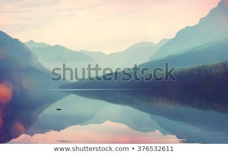 Sérénité lac scénique paysage coucher du soleil nature Photo stock © lovleah