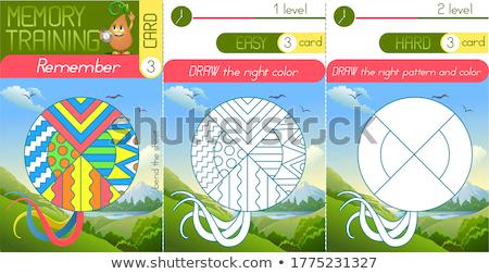 塗り絵の本 メモリ 空気 ヘビ ゲーム 子供 ストックフォト © Olena