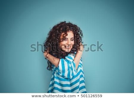 девушки изолированный Sexy молодые женщину улыбка Сток-фото © diomedes66