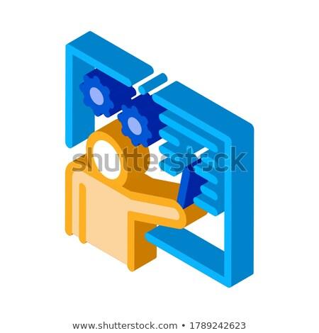 Técnica lección icono vector signo Foto stock © pikepicture