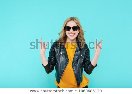 érzelmi vonzó punk szőke nő lány nő Stock fotó © fotoduki