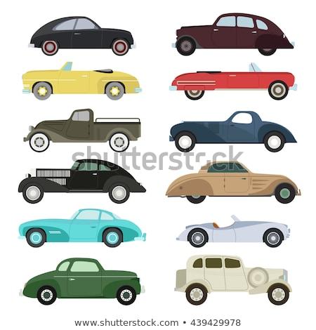 Set of retro cars Stock photo © Supertrooper