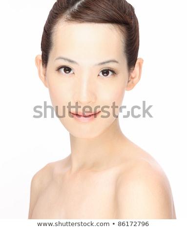retrato · bela · mulher · branco · belo · gracioso - foto stock © lovleah
