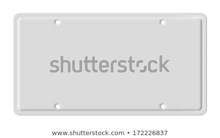 номерной знак изолированный белый фон металл Сток-фото © 808isgreat