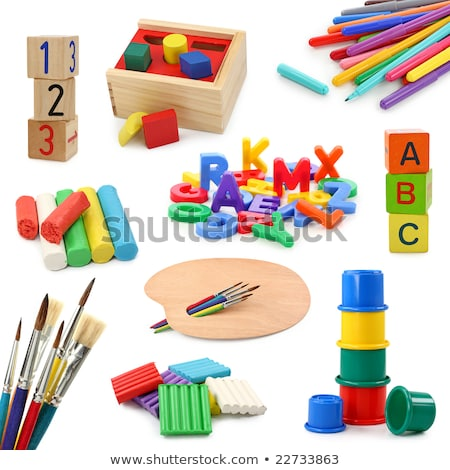 assorted childs letter play blocks Stock photo © morrbyte