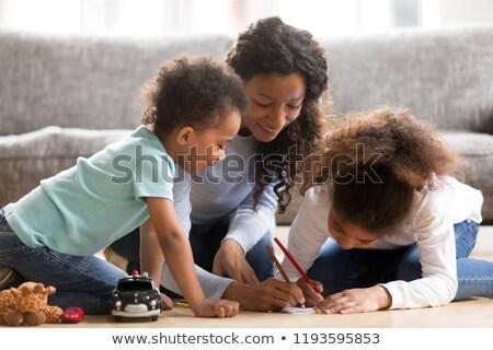 family spending their lesiure time stock photo © get4net
