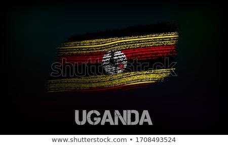 keret · zászló · Uganda · izolált · fehér - stock fotó © hypnocreative