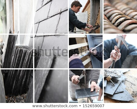 slate roof mosaic stock photo © photography33