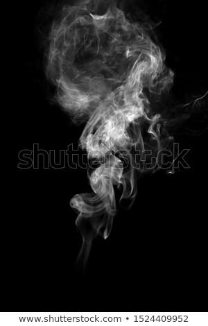 Foto stock: Escuro · fumar · branco · de · volta · abstrato · quadro