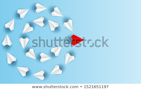 white paper plane Stock photo © prill