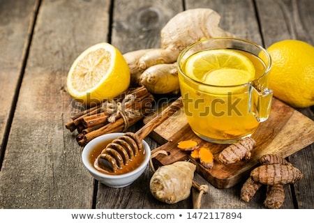 Tea gyömbér citrom méz természet egészség Stock fotó © inxti