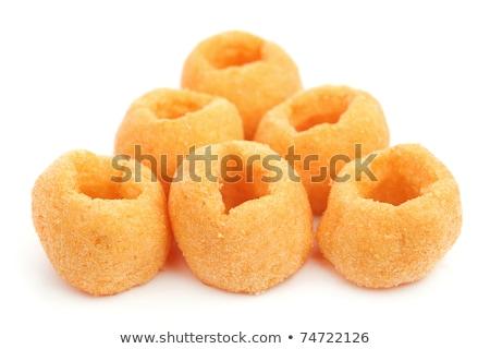 リング 孤立した 白 食品 背景 脂肪 ストックフォト © tehcheesiong