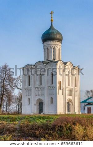 Stockfoto: Kerk · rivier · erfgoed · lijst · unesco · hemel