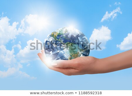 planet earth and diamond Stock photo © mariephoto