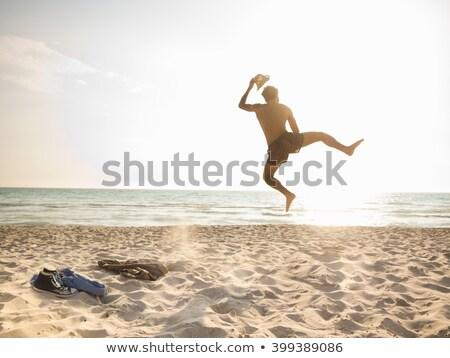 Boldog férfi tengerpart szexi divat modell Stock fotó © photography33