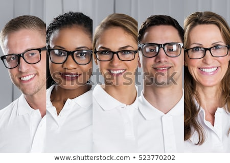 Collage of people wearing glasses Stock photo © photography33