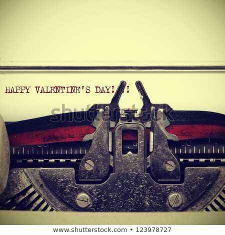 Typewriter Happy Valentines Day Stock photo © ivelin