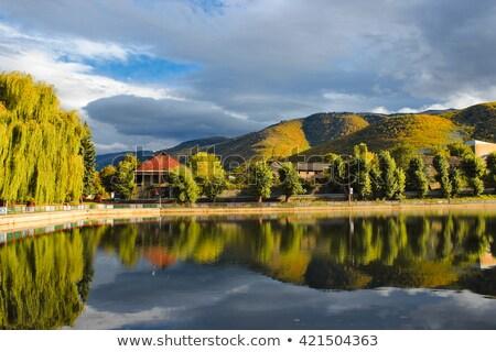 город Армения деревья озеро небе воды Сток-фото © ruzanna