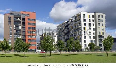 Nowoczesne europejski masa wiejski budynku słonecznej Zdjęcia stock © vavlt