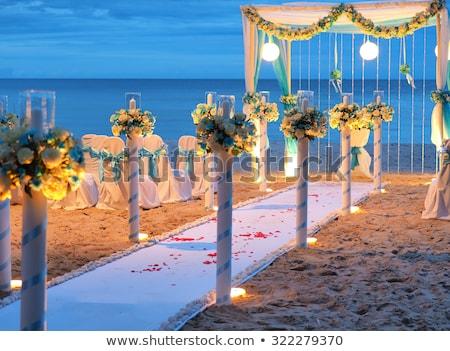 flower decoration at the beach wedding stock photo © ruslanomega