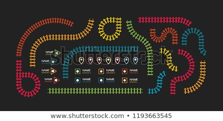 Stok fotoğraf: Colorful Wooden Toy Train And Tracks