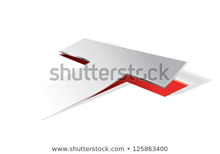 Paper folding with letter T in perspective view Stock photo © archymeder
