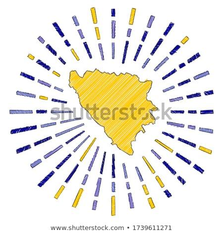 Bandera Bosnia Herzegovina mano color país estilo Foto stock © claudiodivizia