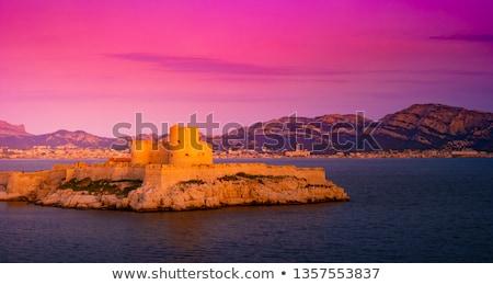 日没 海 フランス ラ ビーチ 水 ストックフォト © ultrapro