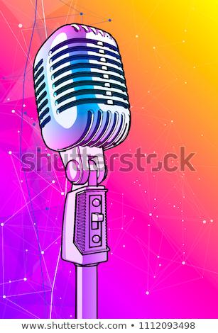 pronto · alto-falante · anúncio · azul · festa · televisão - foto stock © hd_premium_shots