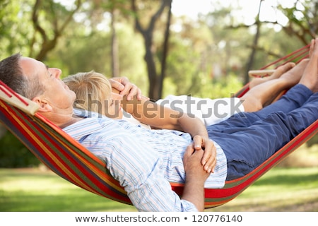 couple hugging in the garden Stock photo © chesterf