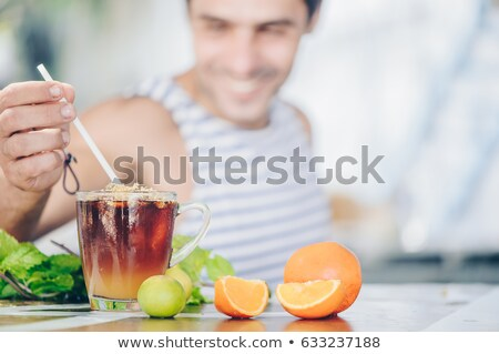 природного · горячий · напиток · свежие · апельсинов · меда - Сток-фото © tab62