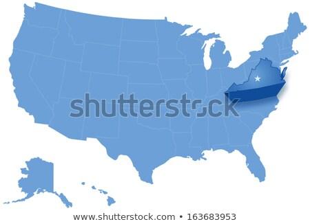 Térkép Egyesült Államok Virginia ki politikai összes Stock fotó © Istanbul2009