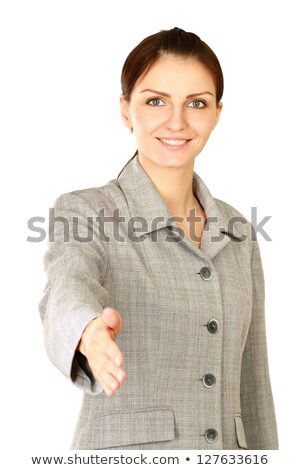 woman stretching out her hand to shake hands with someone Stock photo © photography33