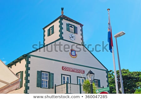 The courthouse in St.Martin Stock photo © michaklootwijk