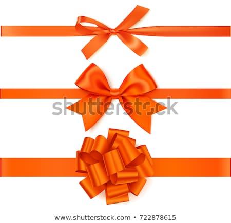 Narancs szalag íj izolált fehér háttér Stock fotó © tetkoren