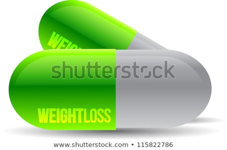 Weight Loss Green Pills Illustration Design Over White Photo stock © alexmillos