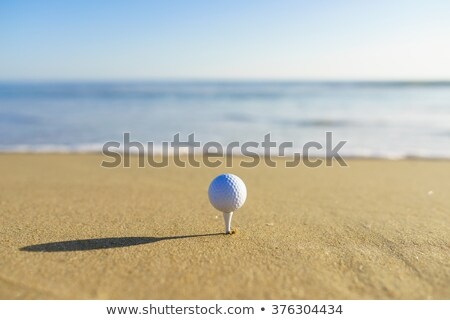 Golf ball on beach Stock photo © leungchopan
