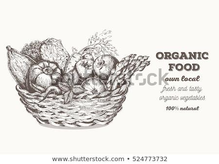 Vegetable basket-vintage Stock photo © Dar1930