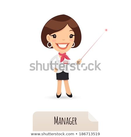 ingesteld · cartoon · vrouwelijke · manager · karakter · ontwerp - stockfoto © voysla