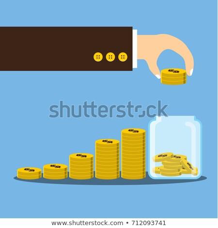 銀 · 物価 · 実例 · 金属 · 銀行 - ストックフォト © vizarch