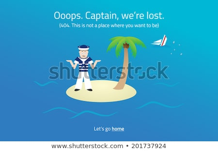 404 web page sailor on desert island theme stock photo © liliwhite