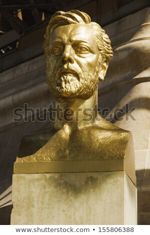 Statue of Gustave Eiffel near Tower, Paris, France Stock photo © Dserra1