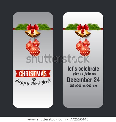 Vector Christmas background with snowflakes on golden background Stock photo © mcherevan