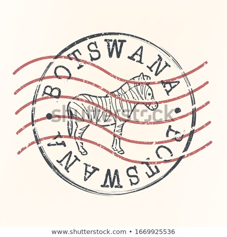 Postage stamp icon of botswana Stock photo © MikhailMishchenko