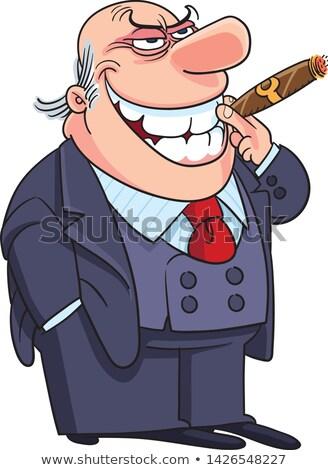Cartoon mal calvo hombre mano diseno Foto stock © lineartestpilot