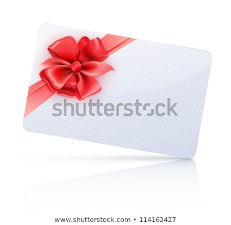 赤 装飾された ギフトカード リボン 弓 ストックフォト © oblachko