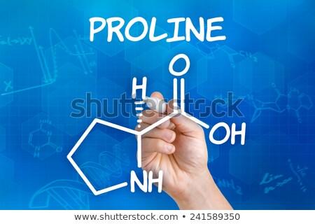 El kalem çizim kimyasal formül tıbbi Stok fotoğraf © Zerbor