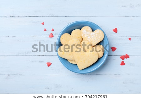 heart shaped shortbread valentine cookies stock photo © keko64