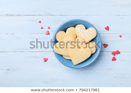 Stock photo: heart shaped shortbread valentine cookies